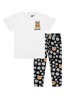 Moschino Kids Baby Girls Black Cotton Outfit