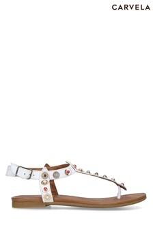 Carvela White Kankan Sandals