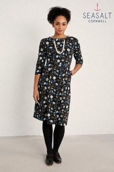 Seasalt Torn Medley Black Tamsin Dress
