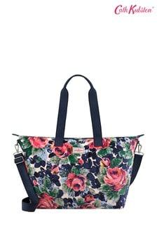 Cath Kidston® Cream Velvet Foldaway Overnight Bag