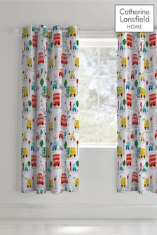 Transport Eyelet Curtains by Catherine Lansfield