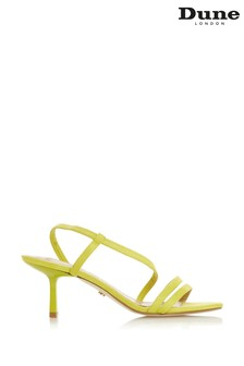Dune London Miso Yellow Synthetic Open Toe Strap Sandals