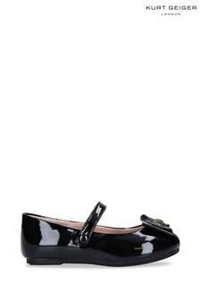 Kurt Geiger London Black Mini Kensington Bow Shoes