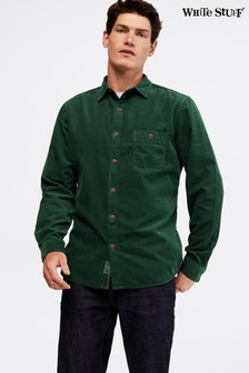 White Stuff Green Parkway Cord Shirt