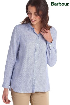 Barbour® Coastal Linen Stripe Relaxed Fit Shirt