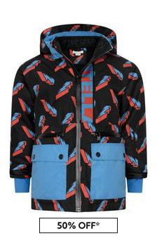 Stella McCartney Kids Boys Lightning Print Ski Jacket