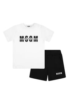 MSGM Baby Boys Cotton Shorts Set