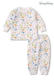 Kissy Kissy White Dinosaur Dash Pyjama Set