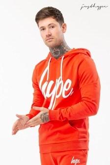 Hype. Red Script Mens Hoody