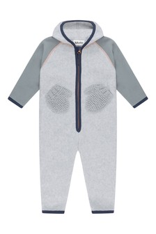 Molo Baby Grey Fleece & Soft Shell Coverall