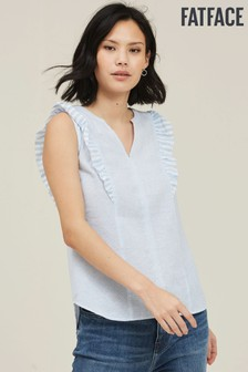 FatFace Blue Mollie Stripe Blouse