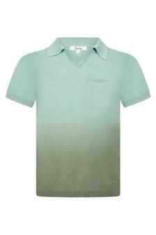 Bonpoint Boys Green Cotton Poloshirt