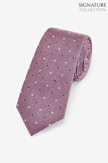 Signature Textured Spot Silk Tie