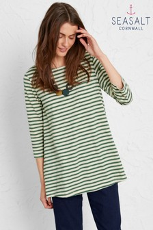 Seasalt Green Lapping Waves Top