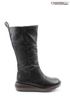 Heavenly Feet Robyn Black Tall Boots