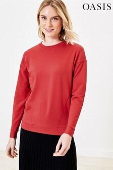 Oasis Red Animal Slogan Sweater