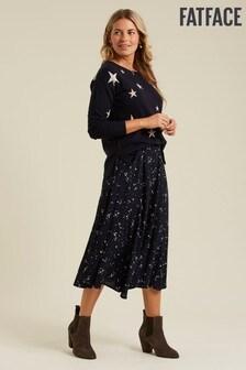 FatFace Blue Becky Lunar Sky Midi Skirt