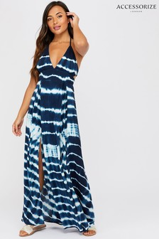 Accessorize Blue Tie Dye Maxi Dress