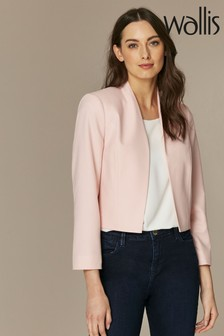 Wallis Pink Blush Cropped Jacket