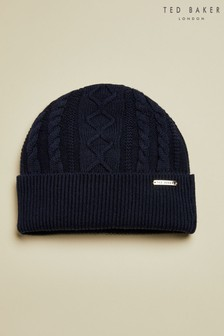 Ted Baker Blue Vartan Multi Stitch Hat