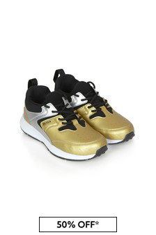 Boss Kidswear Boys Gold Trainers