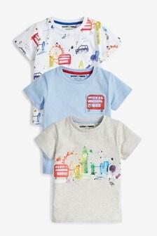 3 Pack London T-Shirts (3mths-7yrs)