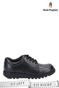 Hush Puppies Black Kiera Senior School Shoes