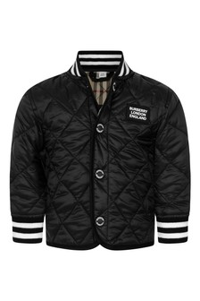 Baby Boys Black Quilted Jacket