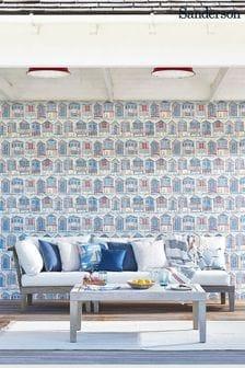 Sanderson Home Beach Huts Wallpaper