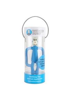 Matchstick Monkey Light Blue Teething Toy