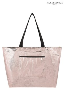 Accessorize Metallic Packable Gym Bag
