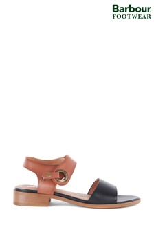 Barbour® Lucy Tan/Black Block Sandals