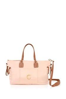 Girls Pink Nylon Changing Bag