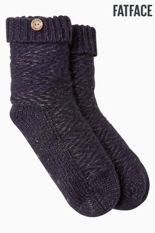 FatFace Blue Sparkle Bed Socks