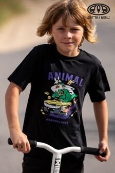Animal Black Shredder Graphic T-Shirt
