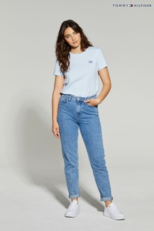 Tommy Hilfiger Blue Gramercy High Waisted Tapered Jeans