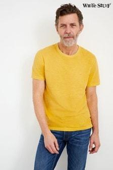 White Stuff Yellow Abersoch Organic Plain T-Shirt