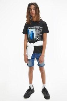 Calvin Klein Jeans Blue Regular Denim Shorts