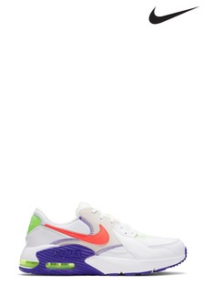 Nike Air Max White/Pink Excee Trainers