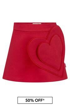 Simonetta Girls Red Skirt