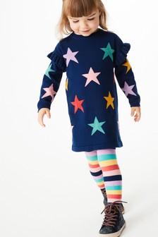 Jumper Dress & Tights Set (3mths-7yrs)