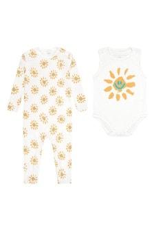 Stella McCartney Kids Baby White Cotton Babygrow Gift Set
