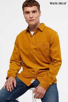 White Stuff Yellow Parkway Cord Shirt