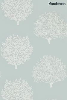 Sanderson Home Blue Coraline Wallpaper