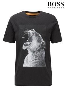 חולצת טי דגם Troaar Animal של BOSS