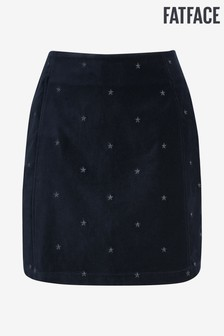 FatFace Blue Beth Star Embroidered Skirt