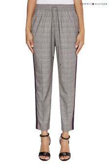 Tommy Hilfiger Brown Check Tapered Trousers
