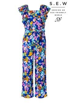 Monsoon Blue S.E.W Cleo Animal Print Jumpsuit