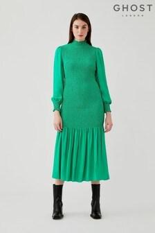 Ghost Green Dinah Crepe Georgette Dress