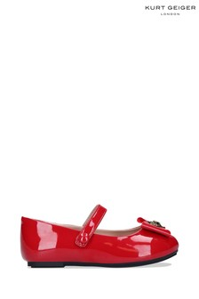 Kurt Geiger London Red Mini Kensington Bow Shoes